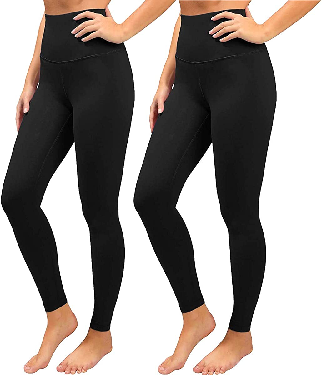 Black Leggings for Women-High Waisted Soft Tummy Control Workout Yoga Pants-Plus Size&Warm: Clothing