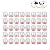 40 Pack Chair Leg Floor Protectors with Felt Furniture Pads Ninonly Transparent Silicone Floor Protector Round Chair Glides Feet Caps Tips Prevent Scratches Furniture Table Feet Covers Leg Cap