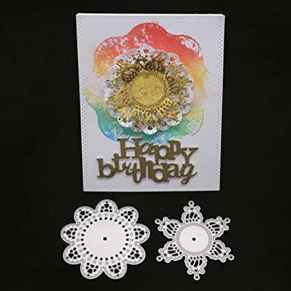 Ode_Joy Circle Cutter Molde Corte Dies DIY Papel Scrapbooking Photo álbum Plantilla, Acero al Carbono