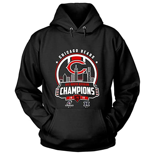 b55f3a1bc8e10 Amazon.com  Chicago Bears NFC North Champions 2018 T Shirt - Hoodie ...