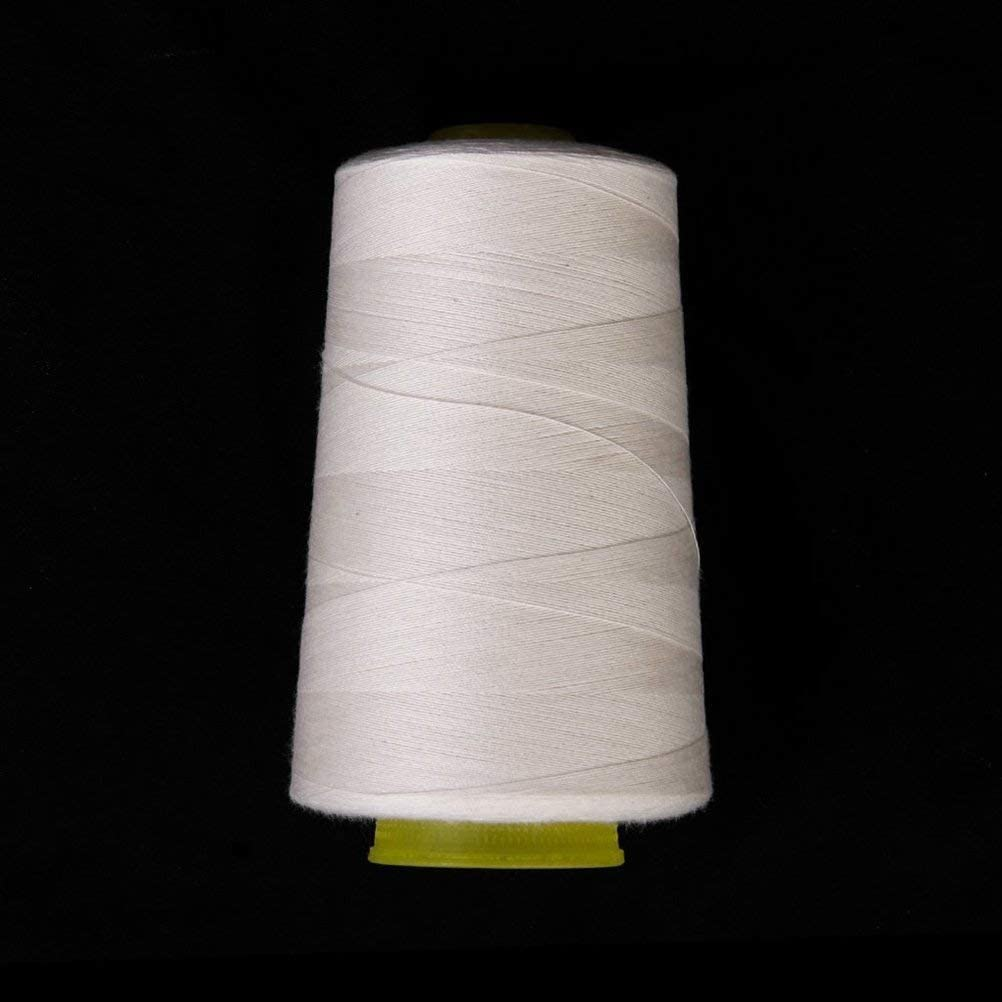 White DD GOODS Sewing Threads Polyester Threads Spool of Threads Industrial Polyester Thread Metre Spools Cones for Sewing Machine and Hand 3000 Yards Each