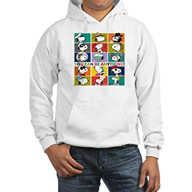 ac34f82ad Amazon.com: CafePress - Snoopy-You Can Be Anything - Pullover Hoodie ...