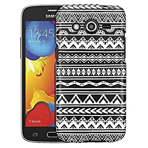 Samsung Galaxy Avant Case, Slim Fit Snap On Cover by Trek White Hand Drawn Aztec Clear Case