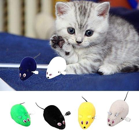 Juguete divertido para ratones de gato, ratones, ratones, ratas de juguete interactivo para gatos, juguetes de ratón de felpa, 1 pieza de color al azar: Amazon.es: Hogar