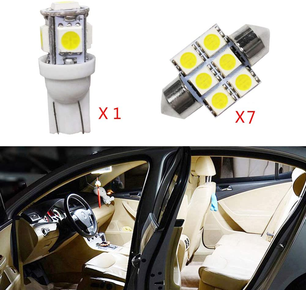 For CX-5 Super Bright LED Interior Lights Source Car Lamp Replacement Bulbs White Pack of 8