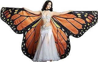 Calcifer NEUF égyptien égyptienne Belly Dance Papillon Monarque Ange Ailes d'Isis avec 2bâtons télescopiques