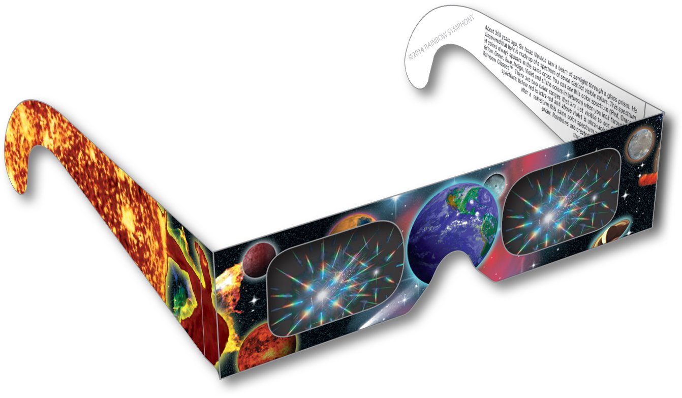 Rainbow Symphony 3D Fireworks Glasses -Planet #2 Design, Package of 1000