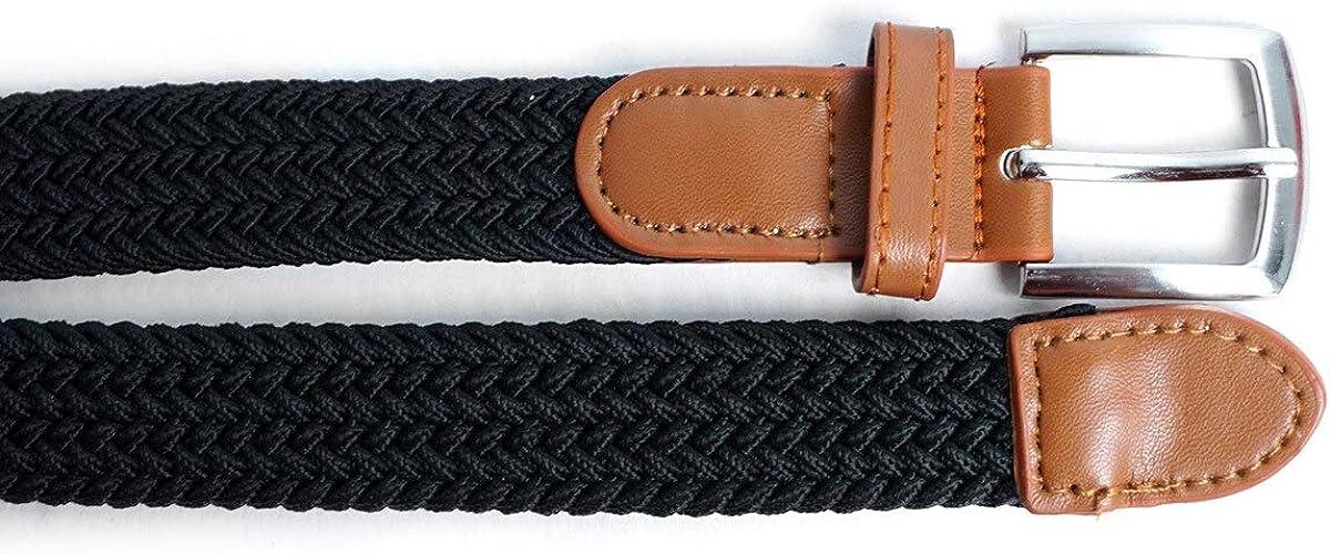 Kid Braided Elastic-Web Stretch Belt for Boys and Girls