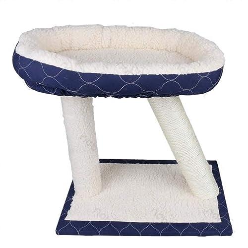 Nobleza 026456 - Juguete rascador para gatos, tipo varias plataformas. Color blanco y azul marino, alto 45cm.: Amazon.es: Zapatos y complementos