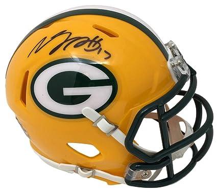 df10d7ef Amazon.com: Davante Adams Signed Packers Riddell Mini Speed Helmet ...