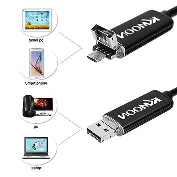 KKmoon 7mm 10m 2 en 1 Mini USB Endoscopio Boroscopio Cámara de Inspección para Teléfonos Android PC: Amazon.es: Bricolaje y herramientas