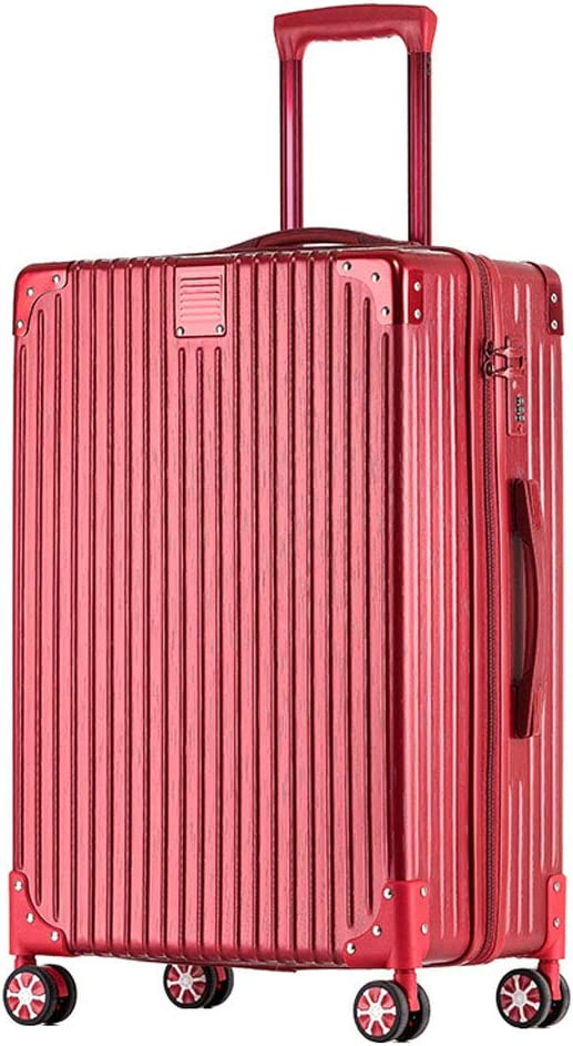 Retro Right Angle Suitcase Smooth Pull Rod Abs+Pc Anti-Pressure Elastic Box Surface Z-Trolley case Mesurn 360/° Silent Wear-Resistant Universal Wheel