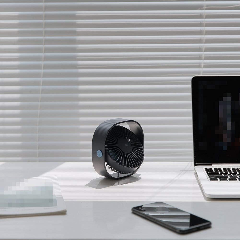 USB Power Fan Ultra-Quiet Third Gear Speed 4inch Mini Fan for Office Desktop Color : Pink HWZXBCC USB Desk Fan
