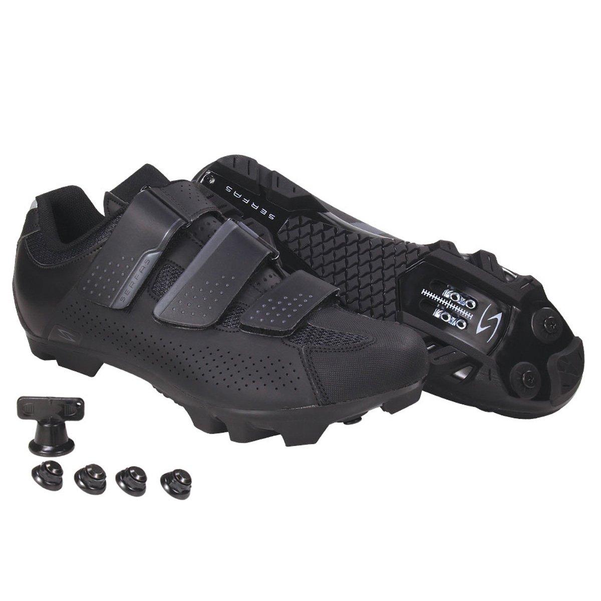 SerfasレディースMTBマウンテンSingletrack 3-strap SPDマウンテンバイクサイクリング靴 ブラック   B077GBQZ95