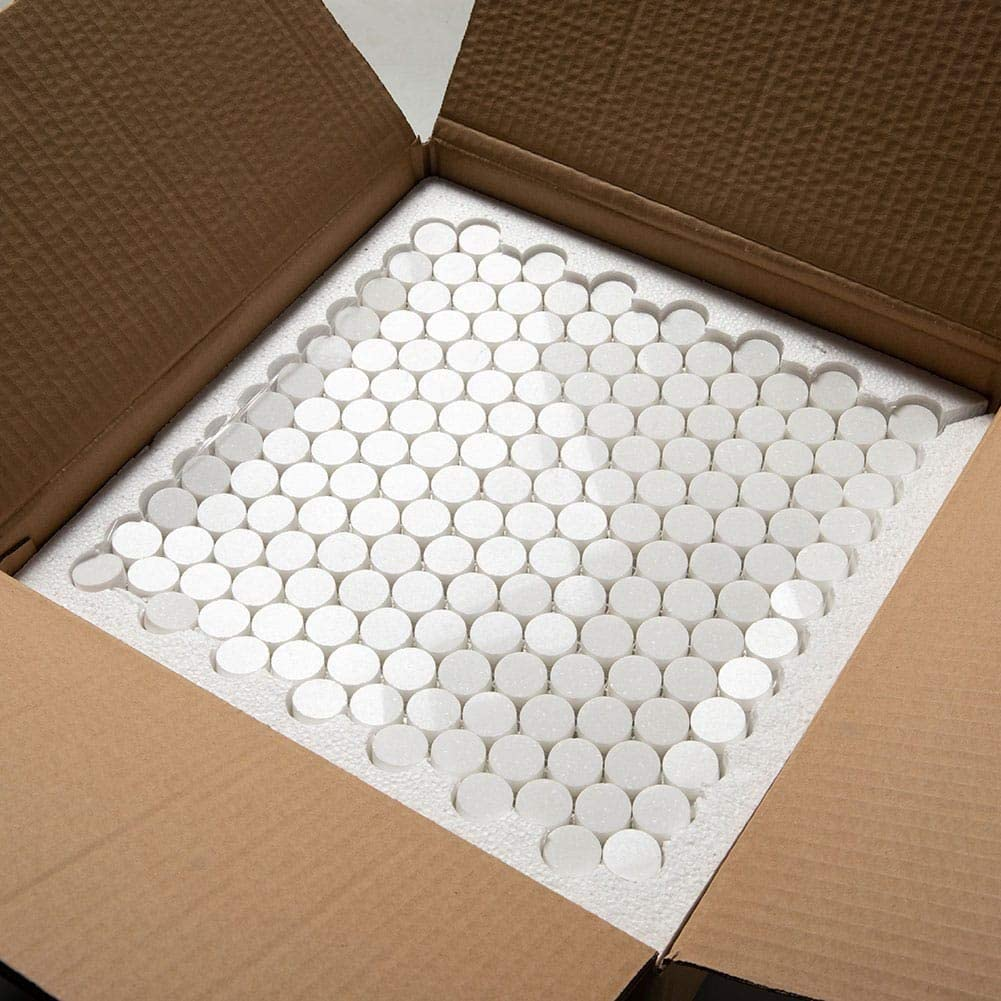Soulscrafts Thassos White Greek Marble Penny Round Mosaic Tile for Kitchen Backsplash//Bathroom Wall /& Floor Tile 1 Inch Polished 5-Pack