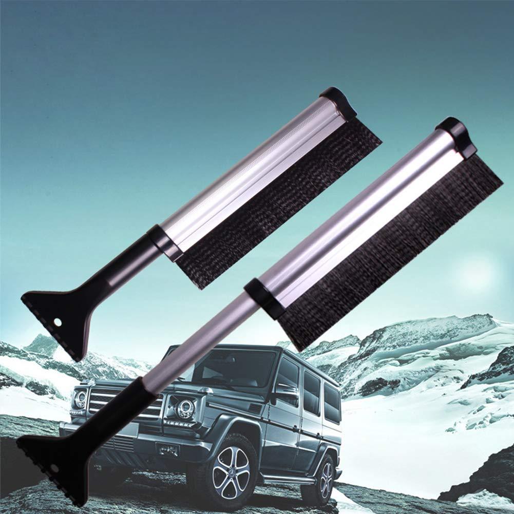 Homealexa Eiskratzer Auto Teleskopisch Eisschaber mit Schneeb/ürste langlebiger und Stabiler Schneeschaufeln Schneebesen f/ür Autos