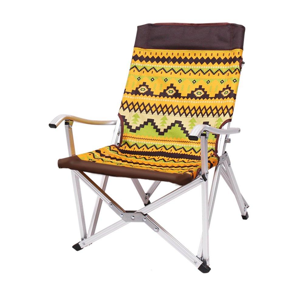 HM&DX アウトドア 折り畳み式のキャンプ椅子 携帯便利 折り畳み ビーチチェア 安定 アルミニウム合金 キャリング バッグと の キャンプ ハイキング釣りガーデン-オレンジ B07CYMR19N