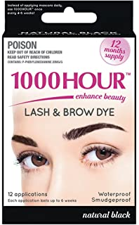 42ea8b718a1 Amazon.com : 1000 Hour Eyelash & Brow Dye / Tint Kit Permanent ...