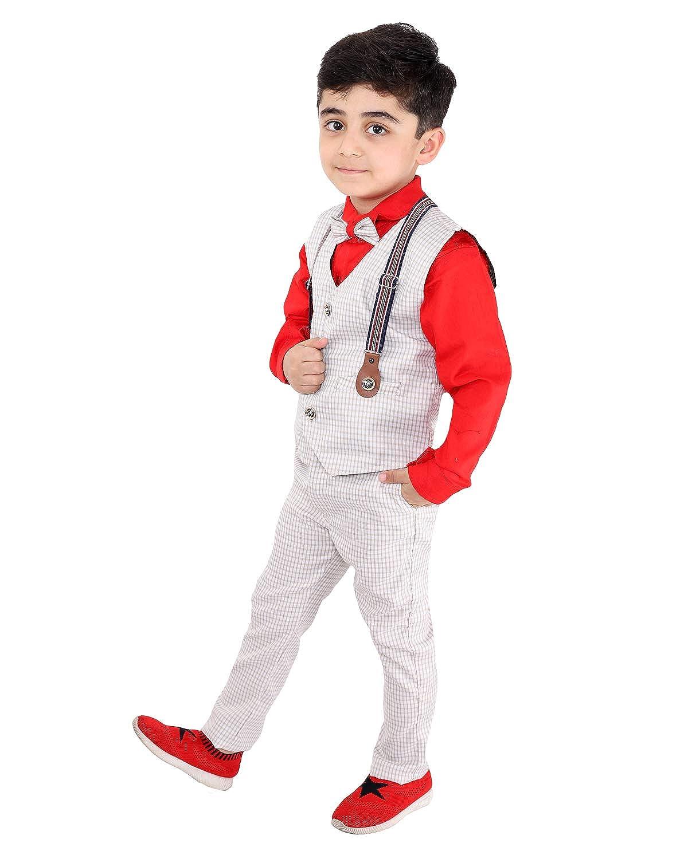 Fourfold - Juego de 3 piezas de traje étnico con corbata y chaleco ...