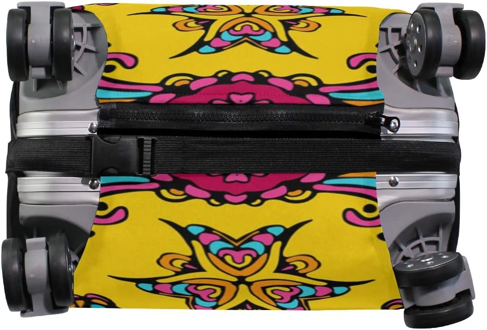 FOLPPLY Chinese Floral Ethinc Pattern Luggage Cover Baggage Suitcase Travel Protector Fit for 18-32 Inch