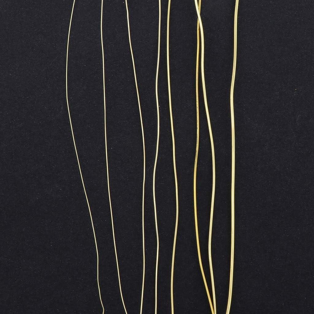 0.25mm Cuerda de Cobre Abalorios Non-brand Alambre de Cobre de 0,25 mm a 1 mm para joyer/ía Dorado
