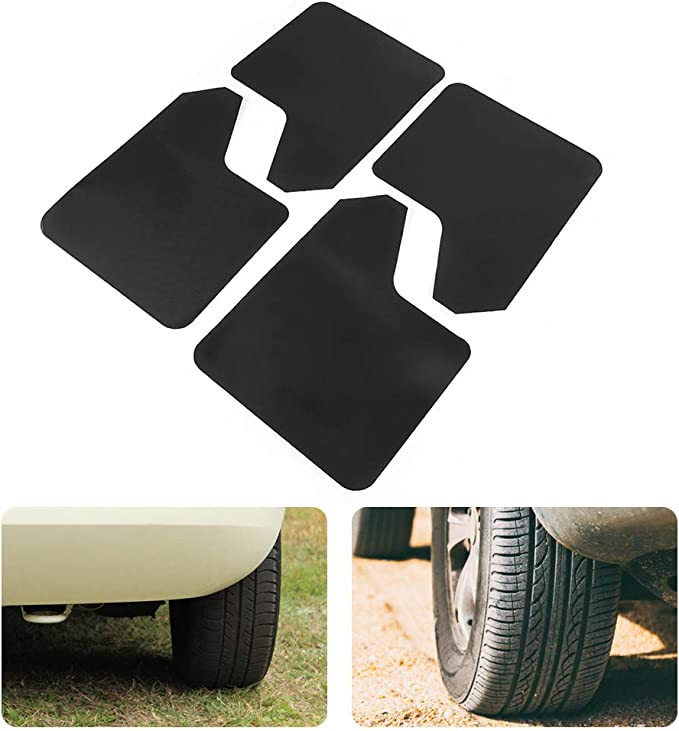 4 Piece Basically Universal Car Mudguard Mud Flap Flash Guard Mudflaps Black Car Mud Flap