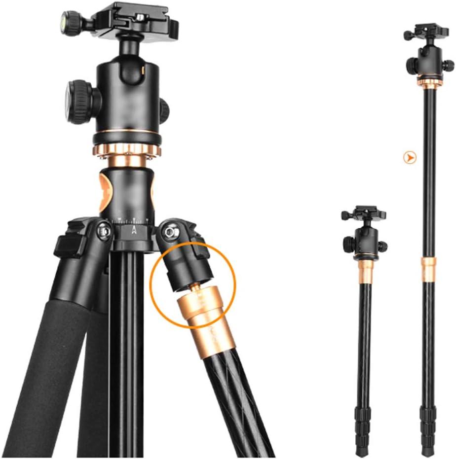 Black Multi-Style Optional Maximum Load 8KG CJGXJZJ Camera Tripod Design : Tripod Center Column Can Be Placed Horizontally with Storage Bag Aluminum Alloy Light Travel Folding Tripod