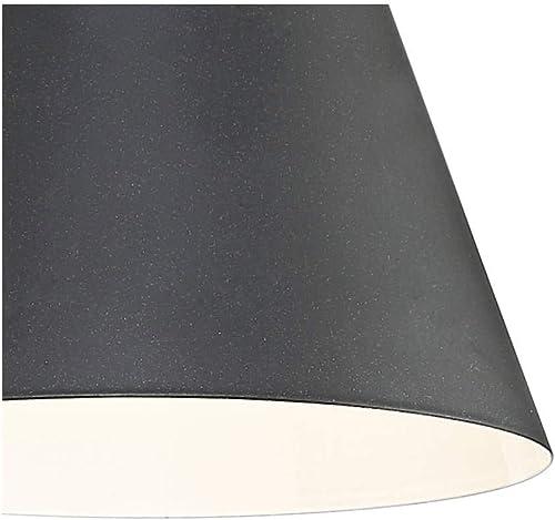 Vance Modern Outdoor Wall Light Fixture LED Black Steel 8″ Swivel Head