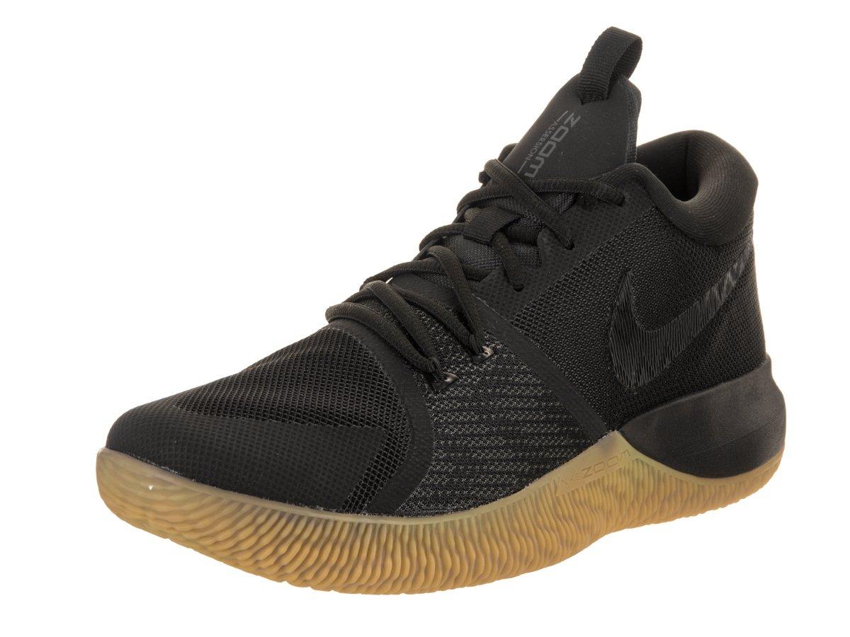 NIKE Men's Zoom Assersion Basketball Shoe B06VVWSHQC 8.5 D(M) US|Black/Gum Light Brown