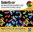 Solar Fairy Lights 50LED Multi Coloured Super Bright Decorative String, choice of light effect. Ideal for Trees, Gardens, Parties & More...