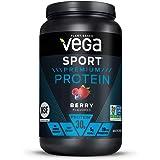 Vega Sport Premium Protein Powder, Berry, Vegan, 30g Plant Based Protein, 5g BCAAs, Low Carb, Keto, Dairy Free, Gluten Free,