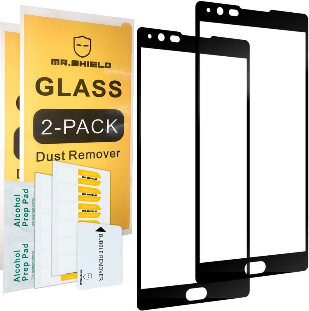 [2-Pack]-Mr.Shield for LG X Power [Tempered Glass] [Full Cover] [Black] Screen Protector with Lifetime Replacement