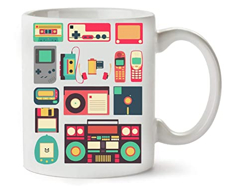 BakoIsland Retro Vintage Technology Illustration Taza para ...
