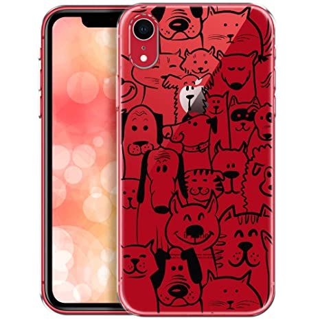 coque iphone xr motif transparente animaux