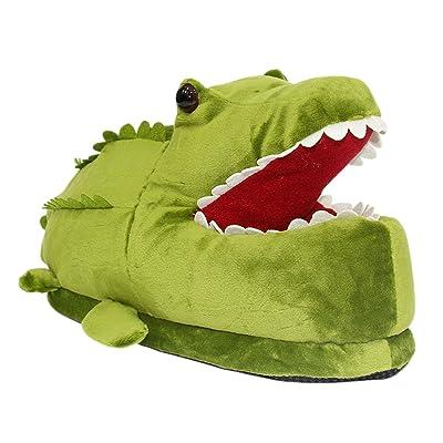Amazon.com | Big Kid Adult Women Men House Animal Slippers Winter Indoor Slip On Shoes Crocodile | Slippers