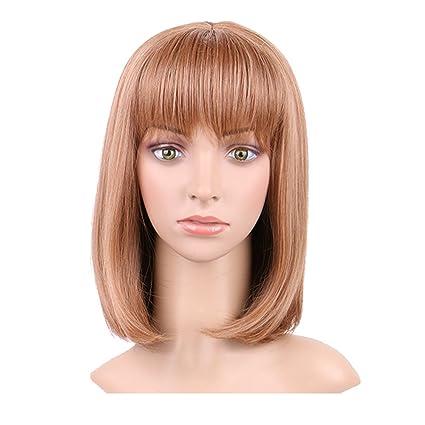 S-noilite ® Vogue corto rizado ondulado cabeza completa Pelucas Cosplay De Disfraces Disfraz de