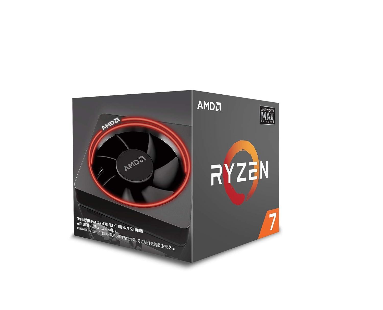 Schwarz AMD YD2700BBAFMAX Ryzen 7 2700 8-Core 20 MB Cache 65 W CPU mit Wraith Max RGB beleuchteter K/ühler