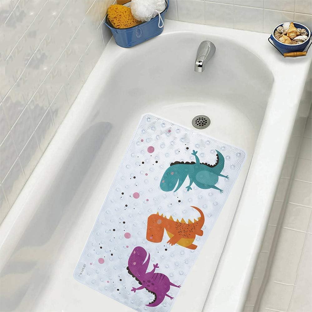 "15X23/"" Yellow dinosaur Kitchen Bathroom Floor Non-Slip Bath Mat Rug Carpet 3753"
