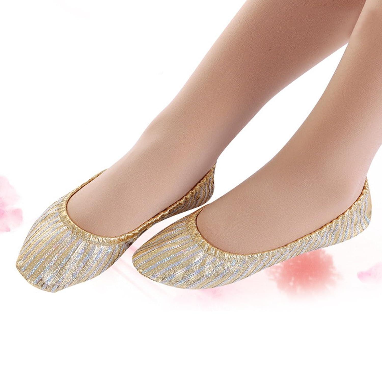 Sharplace Paire Chausson de Danse Orientale en Paillette Semelle PU Cuir  Souple Chassure Ballet pour Femme Fille: Amazon.fr: Chaussures et Sacs
