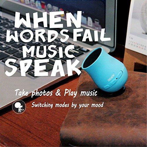 Bazaar Peashooter bluetooth multifonctionnel mini haut-parleur de musique selfie Télécommande double langage