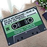 Startview 3D Floor Mats, Christmas Dining Room Carpet Shaggy Soft Mat Rug Rectangle Floor (Green)