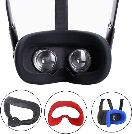 ZBRGXOculusQuestアイマスク,OculusQuestVRファカカバー,洗えるアイマスクパッド、光漏れを防ぐ、防汗(ブラック)