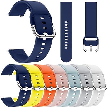 Yushiwu Correa de Reloj de Silicona para Ticwatch E Smart Watch ...