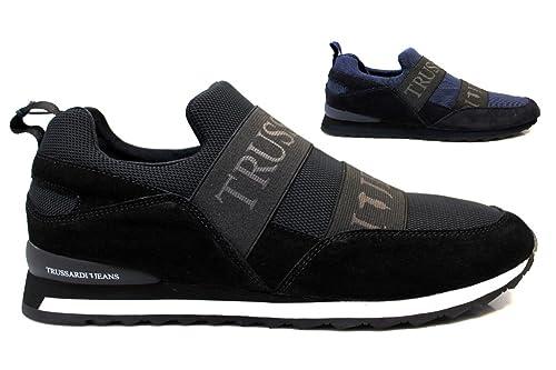 Scarpe Trussardi Jeans Suede Mesh - Sneakers 2016 - Uomo Nere Rosse ... 40ebe13e6ce