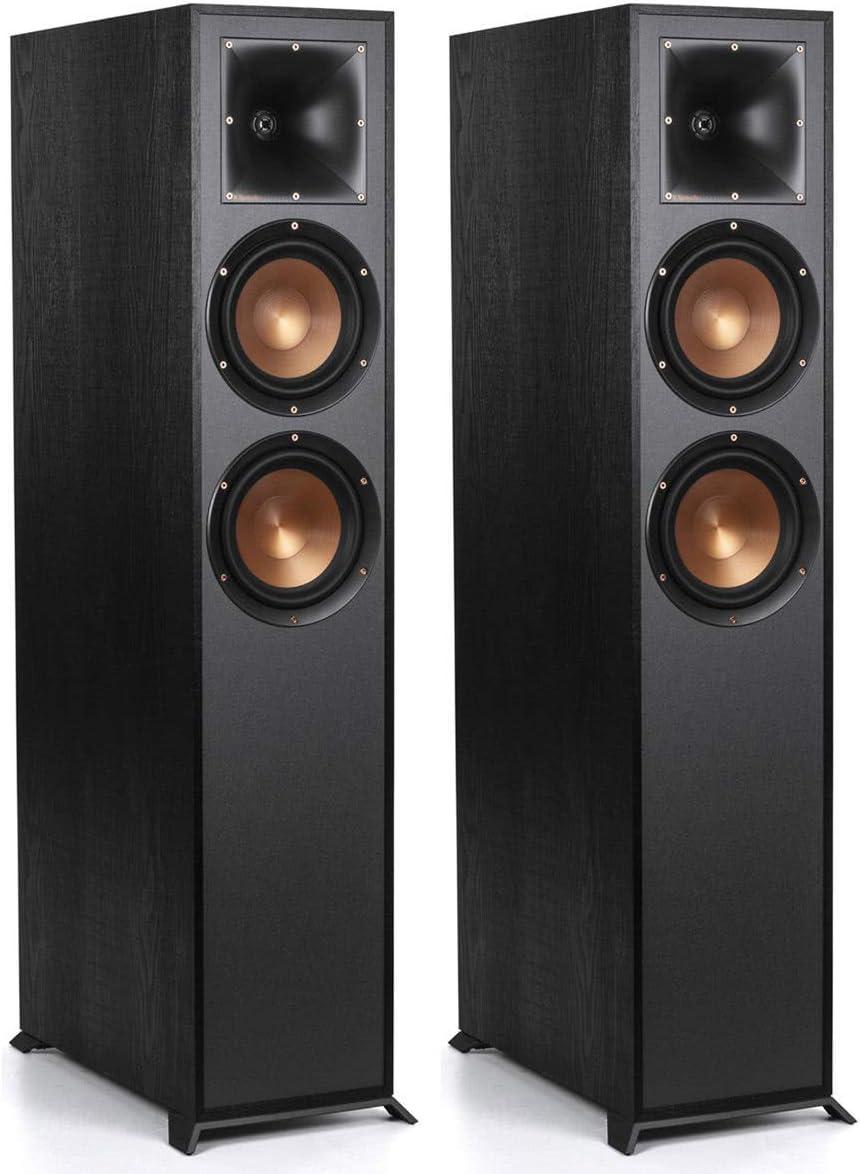Klipsch R-625FA Dolby Atmos Floorstanding Speakers - Pair (Black)