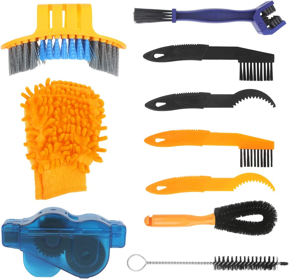 2Pcs Cycling Bicycle Chain Wheel Wash Cleaner Tool Cleaning Brushes Scrubber