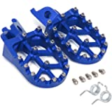 JFG RACING Blue Billet MX Wide Foot Pegs Pedals Rests For For Honda CR125 CR250 02-07 CRF250R CRF250X 04-17 CRF450R 02…