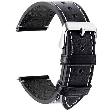 Fullmosa Wax Correa Reloj Piel,6 Colores para Correa Huawei Samsung, Correa/Banda/Band/Pulsera/Strap de Recambio/Reemplazo de 14mm 16mm 18mm 20mm 22mm ...