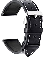 Fullmosa Wax Correa Reloj Piel,6 Colores para Correa Huawei Samsung, Correa/Banda/Band/Pulsera/Strap de Recambio/Reemplazo de 14mm 16mm 18mm 20mm 22mm 24mm