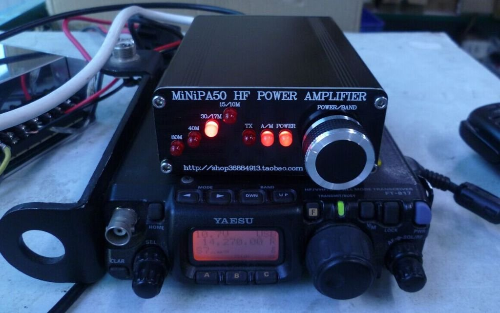 Amazon.com: MiNiPA50 HF Power Amplifier For YASEU FT-817 ...